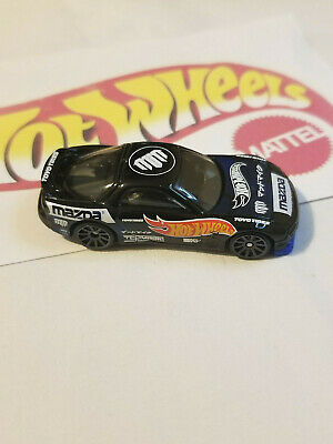 2018 Hot Wheels HW Speed Graphics '95 Mazda RX-7 Black 1:64 SCALE LOOSE MadMike