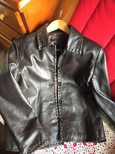 Ladies genuine leather jacket coat dark brown size UK10 Inglewood Stirling Area Preview