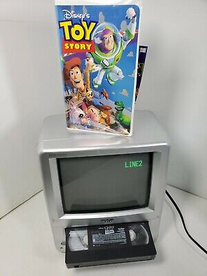 """Vintage RCA T09085 9"""" VHS RECORDING AC/DC Portable Color Gaming Camping CRT TV"""