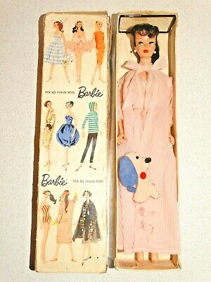 Barbie:  VINTAGE Japanese Exclusive DRESSED BOX Brunette #5 PONYTAIL BARBIE Doll