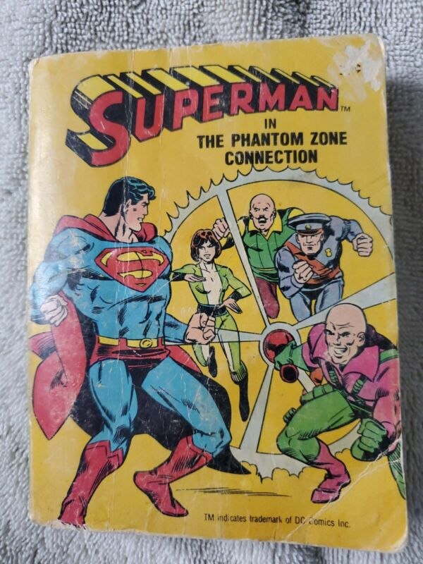😱SUPERMAN IN THE PHANTOM ZONE CONNECTION Big Little Book Whitman 1980 😱