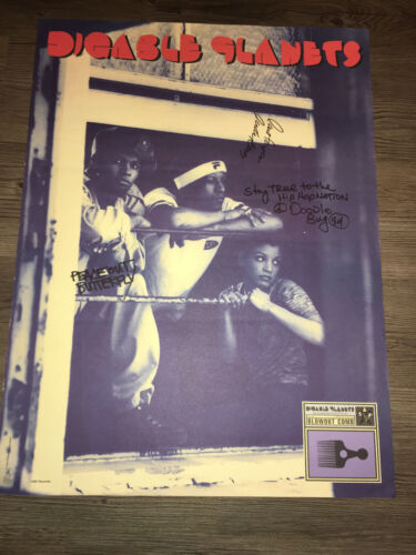 VINTAGE DIGABLE PLANETS SIGNED AUTOGRAPHED LABEL PROMO POSTER  (1994) 18X24