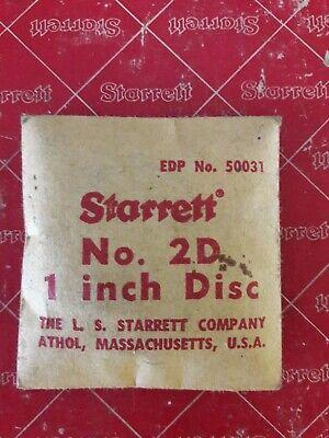 Starrett No. 2d Disc Style 1 Micrometer Standard 1 Inch