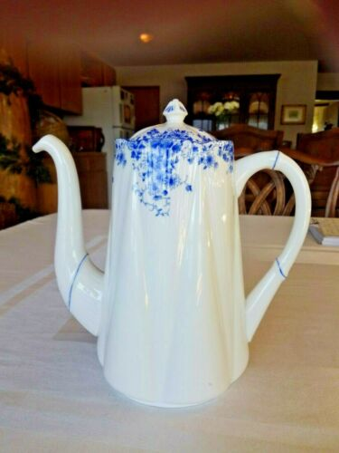 Shelley Dainty Blue Coffee Pot 5 Cup Tea