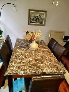 Gone today ! Marble style dining set