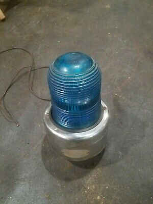 Blue Emergency Siren Light Flashing Rotating Strobe Light Vintage Signal Beacon