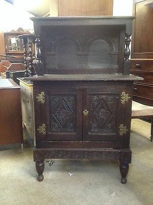 Georgian Period Oak Antique Court Cupboard Cabinet 18th century c1740 Dresser