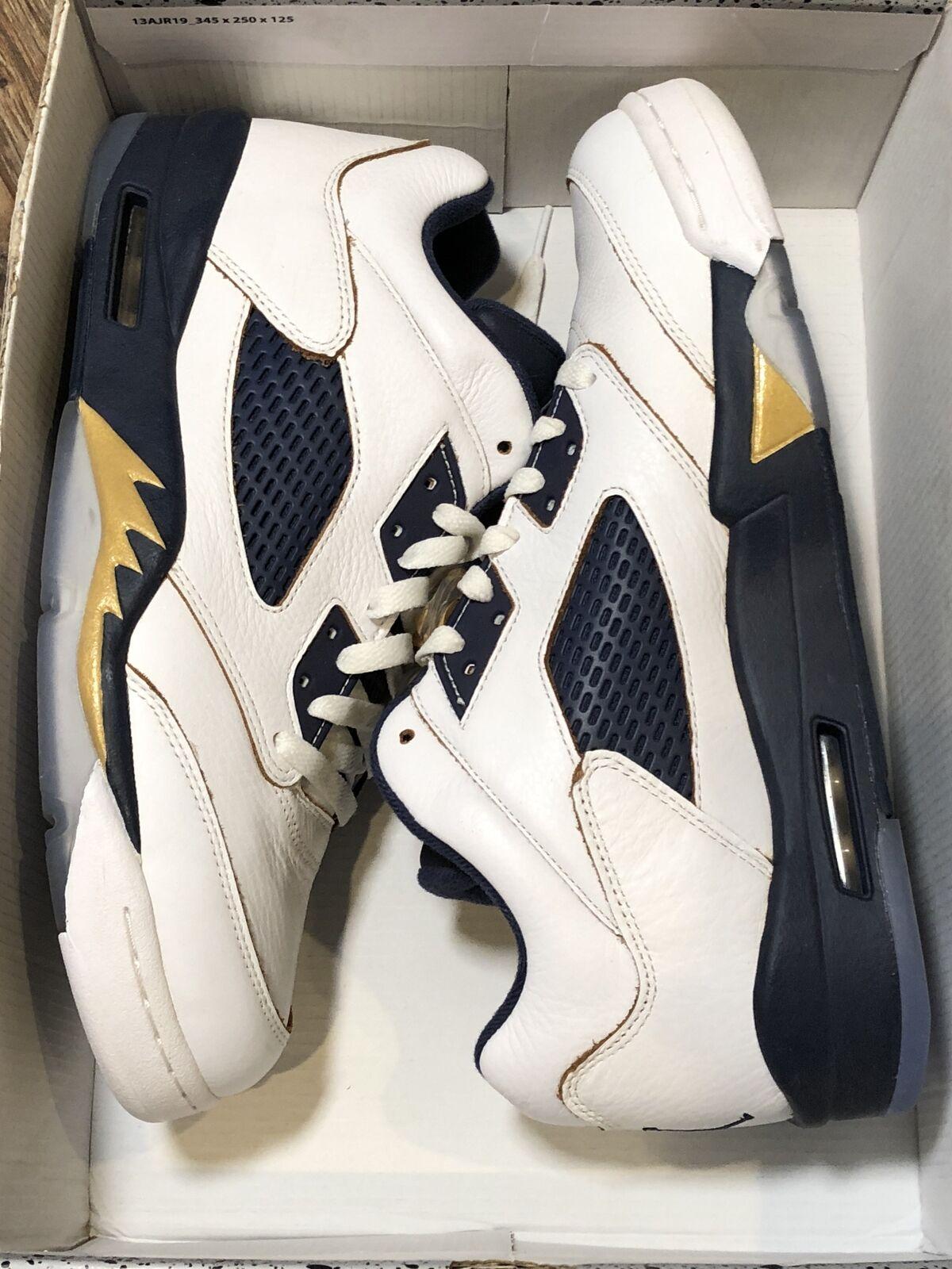1ec255fdab70 Size 10 Men s Air Jordan Retro 5 Low Dunk From Above 819171 135 for ...