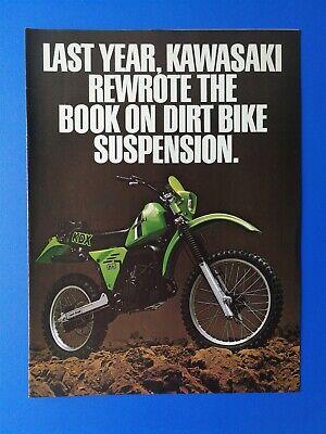 Vintage 1981 Kawasaki KDX250 KDX 420 Motorcycle Three Page Original Color - 420 Page Color
