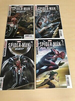 SPIDER-MAN #2,3,4,5 (9.6+) HOPELESS/MARVEL COMICS/VELOCITY/GAMER VERSE