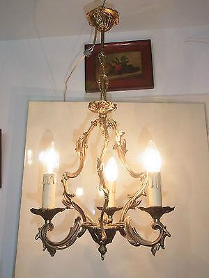 Barock Kronleuchter,Kandelaber aus Frankreich, Bronze