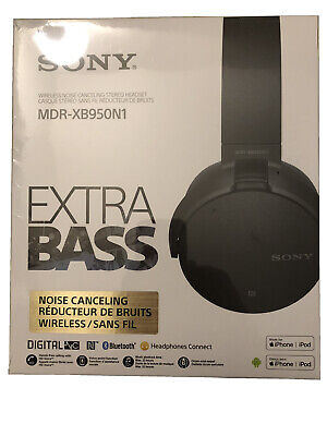 BRAND NEW! Sony XB950N1 Wireless Bluetooth ANC Over-Ear Headphones - Black
