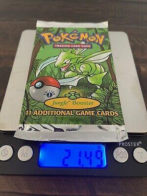 1999 Pokemon 1st Edition Jungle Booster Pack Scyther Art 21.49g MINT (Heavy!)
