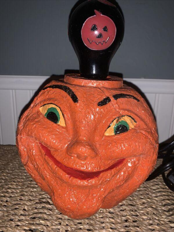 Vintage Inspired Halloween Pumpkin Lamp Light