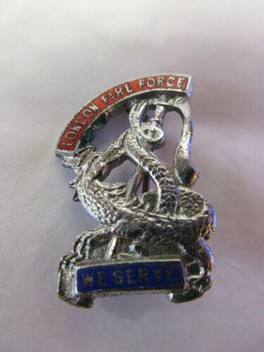 vintage london fire force badge