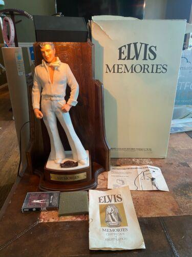 RARE Elvis Presley Memories Decanter McCormick Distilling Lighted Stand Display