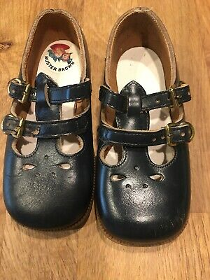 b64b3519ced8a BUSTER BROWN 1960'S VINTAGE TODDLER SZ 5 Navy Blue LEATHER SHOES Mary Janes