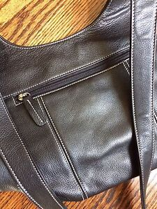 NEW leather cross body bag