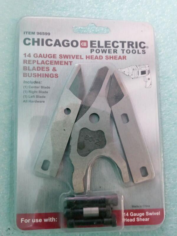 Chicago Electric 14 Gauge Swivel Head Shear Replacement Blades & Bushings