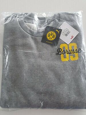 Puma BVB Borussia Dortmund Sweatshirt Borusse Herren, Neu, Gr. M, Grau, Pullover