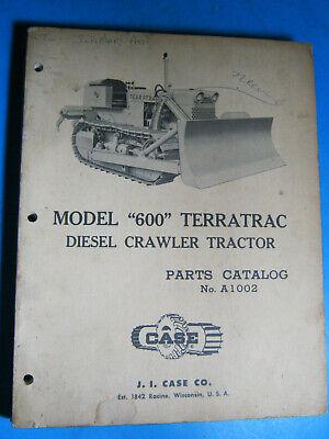 Case 600 Terratrac Crawler Tractor 1959 Parts Catalog Original