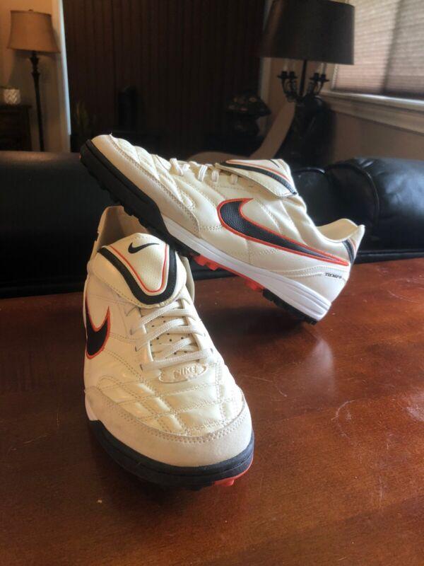 NEW Nike Tiempo Mystic III TF White/Orange (366183-908) Men