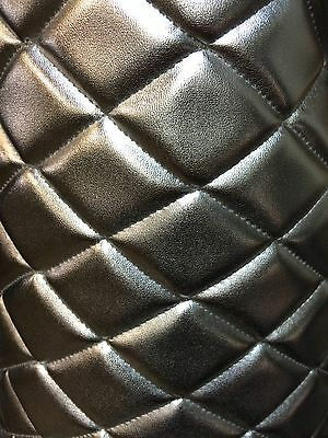 SILVER QUILTED VINYL FABRIC WITH 3/8  FOAM BACKING UPHOLSTERY BY ... : quilted vinyl - Adamdwight.com