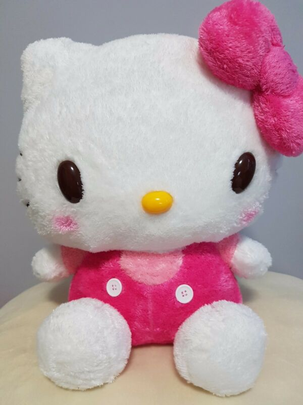 "Sanrio Hello Kitty Plush Large Jumbo Stuff Animal 16"" - NWT Japan"