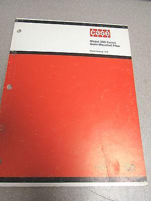 Case 300 Series Semi Mounted Plow Parts Catalog Manual 1315 1975