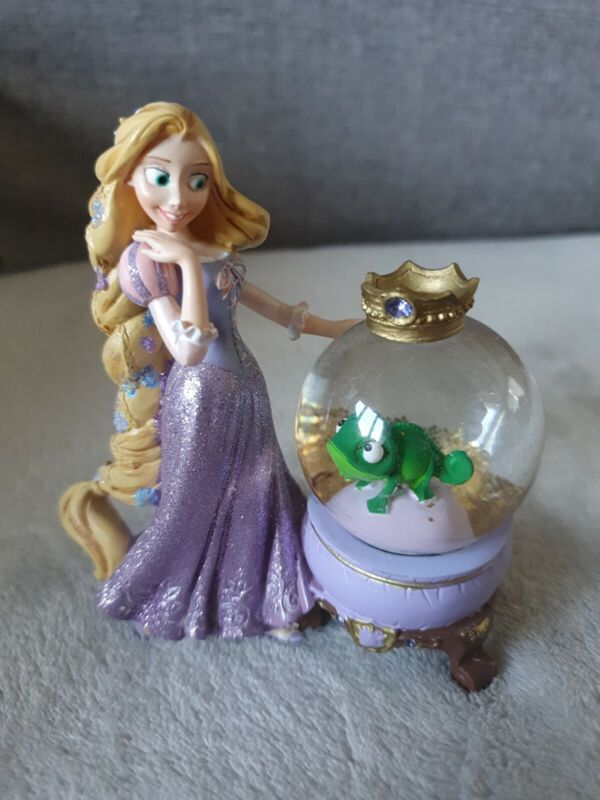 Disney Parks Exclusive Paris Snow Globe Princess Rapunzel Tangled Statue