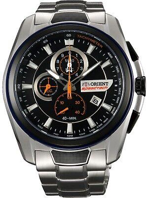 ORIENT STZ00001B0,Men's Speedtech Chronograph,Stainless,Sapphire,Date,100m WR,