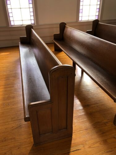 10 Feet Solid Oak Church Pews (only 12 available)