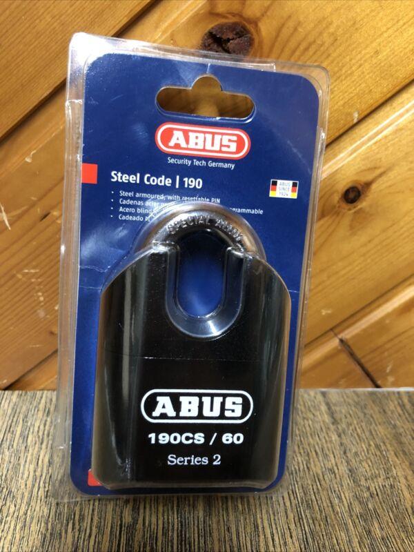 ABUS 190CS/60 Resettable Combo Combination Padlock New