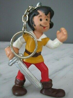 Peyo - Figurine  Johan et Pirlouit  - Scheits  Porte clef -1978