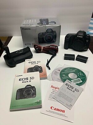 Canon EOS 5D Mark III 22.3MP Digital SLR Camera - Body & Grip US Seller