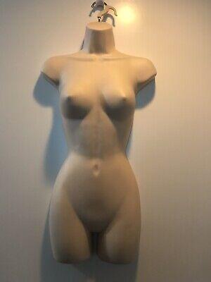 Female Torso Mannequin Dress Form Flesh Color With Hanging Hook