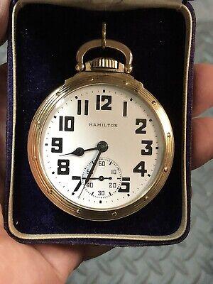 Hamilton 992 B Railroad 21 Jewel Pocketwatch 10k Gold Filled Case