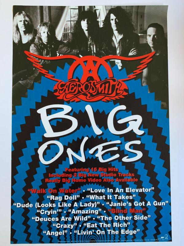 "Original 1994 Aerosmith Big Ones Promotional Rock Poster 24"" x 36"" Geffen Tyler"