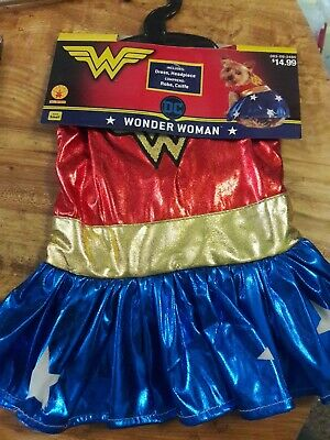 NEO Halloween Rubie's Costumes Wonder Woman Pet Costume For Dog Superhero Small