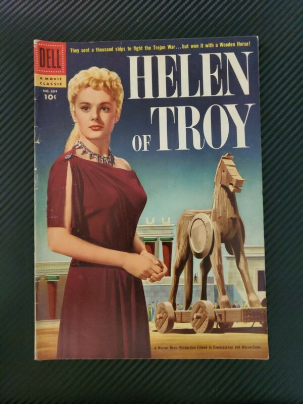 HELEN OF TROY (1956) Dell Four Color Movie Classic Comics #684