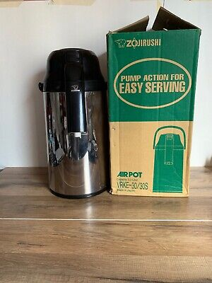 Zojirushi VRKE 30/30S Air Pot Decanter 3.0 Liter Beverage Dispenser Stainless ()