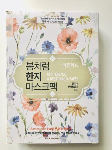 10 Pcs Korea Hanji Phytoncid Premium Mask Pack Sheet K- Beauty -Made In Korea