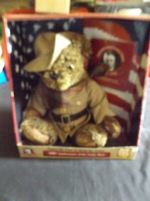 100TH ANNIVERSARY TEDDY BEAR - BEAR HUNTING STORY PRESIDENT ROOSEVELT TALKING