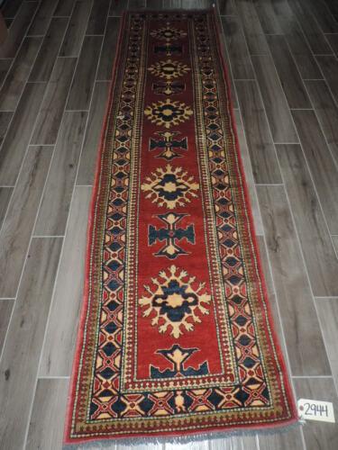 3x10ft. Handmade Caucasian Kazak Wool Runner