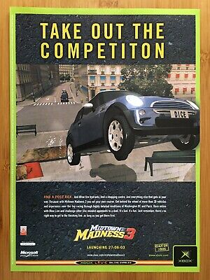 Midtown Madness 3 Xbox 2003 Vintage Print Ad/Poster Official UK Promo Art RARE