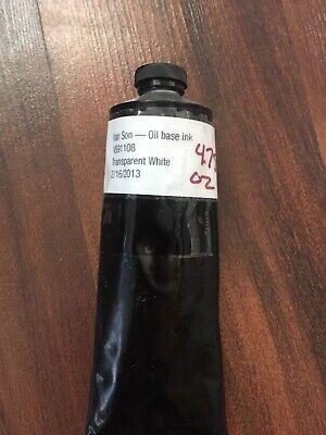 Letterpress Ink In Tube Oil Based Pantone Transparent White Van Son