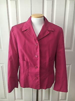 Women DANIEL HECHTER -SPRING Fushia COTTON Women Blazer Suit Jacket SZ 14