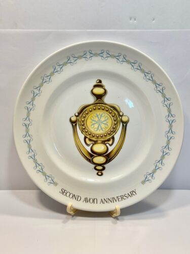 "Vintage AVON Second Anniversary Collector Plate - ""The Avon Door Knocker"" In Box"