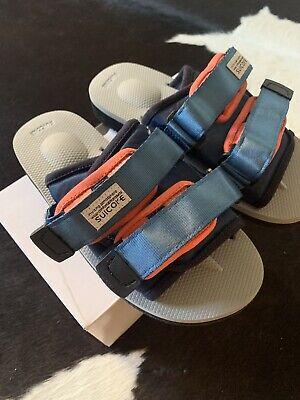Suicoke OG-056Cab / MOTO-Cab Navy Gray Grey Antibacterial Sandals Slides Slipper
