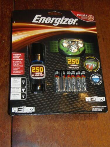 COMBO 2 PACK Energizer 250 Lumens LED Flashlight & Headlight, Head Lamp (APO-26)